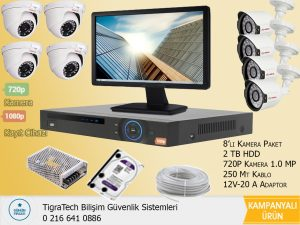Kamera Sistemi 8'li Paket